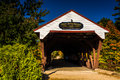 The Swift River Covered Bridge In Conway, New Hampshire. Stock Photography - 48468052