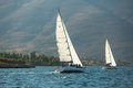 Unidentified Sailboats Participate In Sailing Regatta  Royalty Free Stock Images - 48475909
