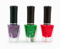 Green Red  Blue Nail Stock Images - 48482084