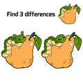 Find Three Differences (pear And Caterpillar) Stock Image - 48485801