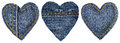 Jeans Heart Shape Patch Object Stitches Seam, Valentines Day Stock Images - 48492444