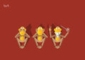 50-the 3rd Monkey Royalty Free Stock Image - 48501416