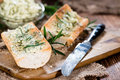 Baguette (with Herb Butter And Garlic) Royalty Free Stock Image - 48506776