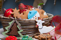 Christmas Various Gingerbread Cookies, Cakes, Cupcakes. Stock Image - 48517691