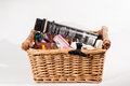 A Basket Of Beauty Care Products Stock Photo - 48519540