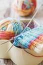 Knitting With Spokes Royalty Free Stock Photos - 48522238
