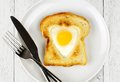 Heart Shaped Valentines Day Egg In Toast Royalty Free Stock Photos - 48528318