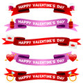 Valentine S Day Ribbons Or Banners Set Stock Photo - 48530130