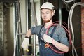 Electrician Worker With Wiring Stock Images - 48535764