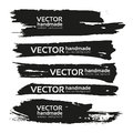 Black Handdrawn Realistic Strokes Banners Royalty Free Stock Photography - 48539637