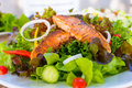 Salmon Salad Stock Photos - 48546633