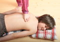 Boy Massaged By A Girl Stock Photos - 48552423