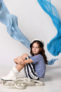 Sailor Girl With Rope Royalty Free Stock Photography - 48558137