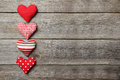 Love Hearts On The Grey Wooden Background Stock Image - 48561261
