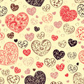 Seamless Pattern Of Hearts Royalty Free Stock Images - 48567189