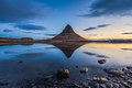 Kirkjufell And Its Reflection At Sunrise, Iceland Stock Images - 48567794