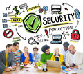 Ethnicity People Brainstorming Security Protection Concept Royalty Free Stock Image - 48571166