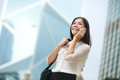 Business Woman Talking On Smart Phone In Hong Kong Royalty Free Stock Photo - 48571655