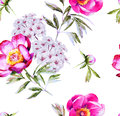 Modern Floral Blossom Seamless Pattern Royalty Free Stock Photos - 48578108