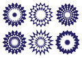 Midnight Blue Abstract Vector Kaleidoscopic Design Element Royalty Free Stock Image - 48578866