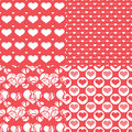 Valentine Hearts Seamless Pattern, Abstract Background Stock Images - 48582794