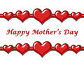 Mother S Day Greeting With Hearts Stock Photo - 4861160