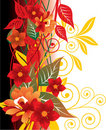 Red Floral Background Stock Photos - 4864243