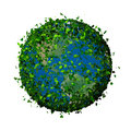 Planet Earth Covered With The Leaves. Eco Globe. Royalty Free Stock Photos - 48607098