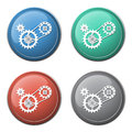 Chain With Cogwheels Icon Stock Image - 48612491