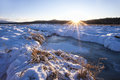 Winterscape Late In The Day. Royalty Free Stock Photos - 48612638
