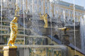 Grand Cascade Fountains At Peterhof Palace, St. Petersburg. Royalty Free Stock Image - 48614496