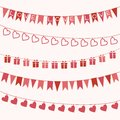 Set Of Garlands For Valentine S Day Or Wedding Royalty Free Stock Image - 48617956