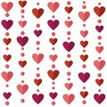 Seamless Pattern With Flat Hearts Royalty Free Stock Photo - 48619425