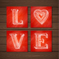 Hand Drawn Love Poster Royalty Free Stock Photo - 48628895