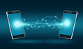 Smart Phone Technology Internet Transfer Connection Background Royalty Free Stock Image - 48630356