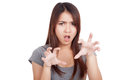 Young Asian Woman With Spooky Hands Gesture Royalty Free Stock Photos - 48632958