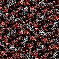 Pattern With Hand Painted Hearts Stock Photography - 48634712