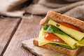 Fresh Made Cheese Sandwich Royalty Free Stock Photos - 48642838
