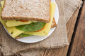 Fresh Made Sandwich (with Cheese) Royalty Free Stock Photo - 48642885