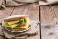 Fresh Made Sandwich (with Cheese) Royalty Free Stock Images - 48642919