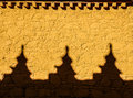 Colourful Yellow Wall With Shadows At Samye Monastery, Tibet Royalty Free Stock Photo - 48644765
