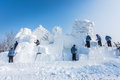 Snow Sculptures At The The 27th Harbin Ice And Snow Festival In Harbin China Royalty Free Stock Photos - 48668008
