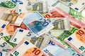 Heap Of Different Euro Banknotes Stock Images - 48672794