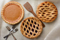 Three Assorted Pies Royalty Free Stock Images - 48690649