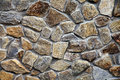 Wall With Textured Stone Blocks Stock Image - 48696261