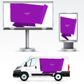 Template Outdoor Advertising Or Corporate Identity On The Car, Billboard And Citylight. Stock Images - 48701954