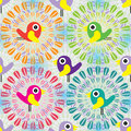 Bird Inside Circle Seamless Pattern Royalty Free Stock Image - 48710176