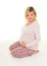 Pregnant Woman Isolated Royalty Free Stock Photography - 48710577
