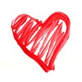 Red Painted Heart Stock Photos - 48712073