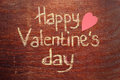 Happy Valentines Day Note On Wood Background Royalty Free Stock Photos - 48714498